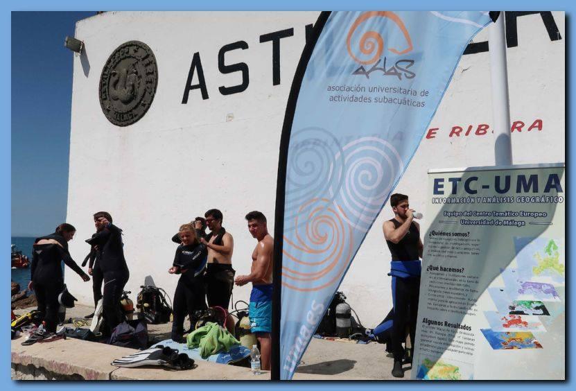 El ETC-UMA colabora en la limpieza de basura marina en Málaga